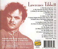 The White Dove - Lawrence Tibbett (Ballads and Songs from Films and Operetta 1926-1931) - Produktdetailbild 1
