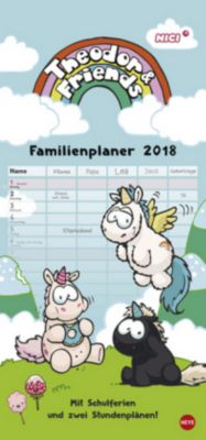 Theodor & Friends Familienplaner 2018