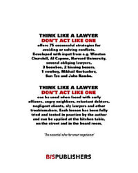 Think Like a Lawyer Don't Act Like One - Produktdetailbild 1