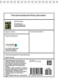 Tiere der kanadischen Rocky Mountains (Tischkalender 2019 DIN A5 hoch) - Produktdetailbild 13