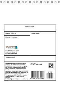Tiere Ecuadors (Tischkalender 2019 DIN A5 hoch) - Produktdetailbild 13