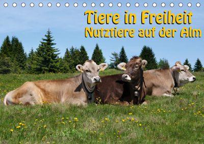 Tiere in Freiheit - Nutztiere auf der Alm (Tischkalender 2019 DIN A5 quer), Georg Niederkofler