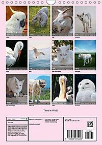 Tiere in Weiß (Wandkalender 2019 DIN A4 hoch) - Produktdetailbild 11