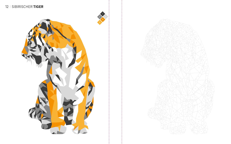 Tierisch Geometrisch Malen Nach Zahlen Wilde Tiere Ausmalen
