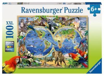 Puzzles & Geduldspiele Versammlung der Tiere Geduldspiel Puzzle 100 Teile XXL Spiel Deutsch 2018