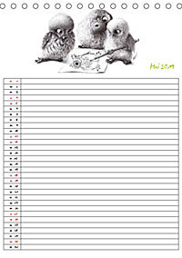 Tieronisch Eulen (Tischkalender 2019 DIN A5 hoch) - Produktdetailbild 5
