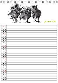 Tieronisch Eulen (Tischkalender 2019 DIN A5 hoch) - Produktdetailbild 1