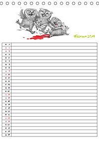 Tieronisch Eulen (Tischkalender 2019 DIN A5 hoch) - Produktdetailbild 2