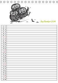 Tieronisch Eulen (Tischkalender 2019 DIN A5 hoch) - Produktdetailbild 9