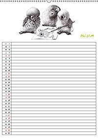 Tieronisch Eulen (Wandkalender 2019 DIN A2 hoch) - Produktdetailbild 5