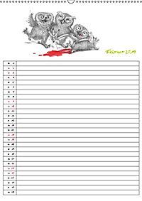 Tieronisch Eulen (Wandkalender 2019 DIN A2 hoch) - Produktdetailbild 2