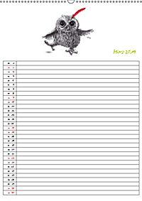 Tieronisch Eulen (Wandkalender 2019 DIN A2 hoch) - Produktdetailbild 3
