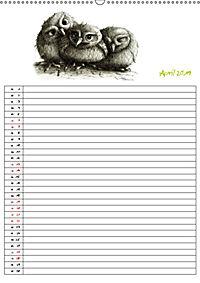 Tieronisch Eulen (Wandkalender 2019 DIN A2 hoch) - Produktdetailbild 4
