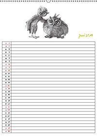 Tieronisch Eulen (Wandkalender 2019 DIN A2 hoch) - Produktdetailbild 6