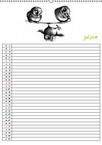 Tieronisch Eulen (Wandkalender 2019 DIN A2 hoch) - Produktdetailbild 7