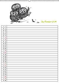Tieronisch Eulen (Wandkalender 2019 DIN A2 hoch) - Produktdetailbild 9