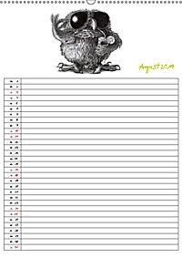 Tieronisch Eulen (Wandkalender 2019 DIN A2 hoch) - Produktdetailbild 8