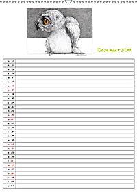 Tieronisch Eulen (Wandkalender 2019 DIN A2 hoch) - Produktdetailbild 12