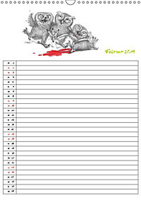 Tieronisch Eulen (Wandkalender 2019 DIN A3 hoch) - Produktdetailbild 2