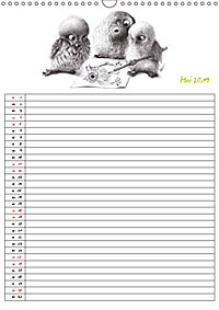 Tieronisch Eulen (Wandkalender 2019 DIN A3 hoch) - Produktdetailbild 5