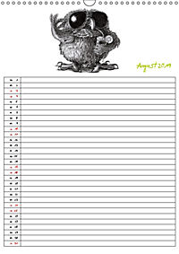 Tieronisch Eulen (Wandkalender 2019 DIN A3 hoch) - Produktdetailbild 8