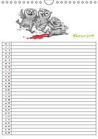 Tieronisch Eulen (Wandkalender 2019 DIN A4 hoch) - Produktdetailbild 2