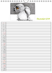 Tieronisch Eulen (Wandkalender 2019 DIN A4 hoch) - Produktdetailbild 12