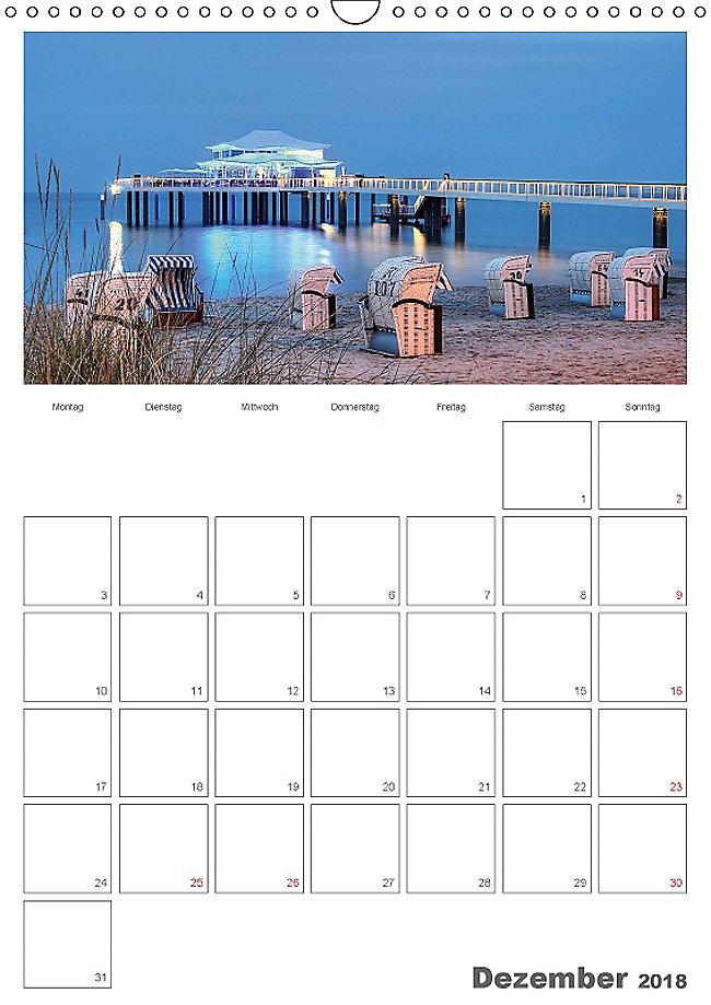 timmendorfer strand wandkalender 2018 din a3 hoch. Black Bedroom Furniture Sets. Home Design Ideas