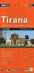 Tirana Stadtplan 1 : 10 000 GPS