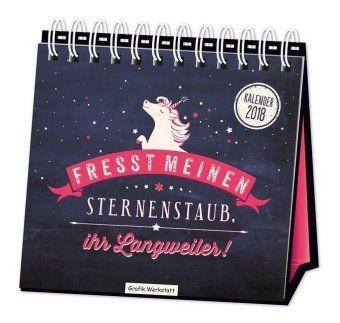 Tischkalender Fresst meinen Sternenstaub 2018, Grafik Werkstatt Bielefeld
