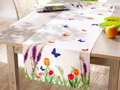 Tischläufer Blumenwiese, 140 x 40 cm