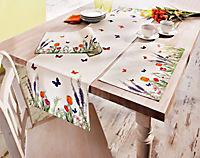 """Tischläufer """"Blumenwiese"""", 140 x 40 cm - Produktdetailbild 1"""