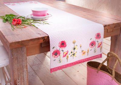 Tischläufer Mohnblume