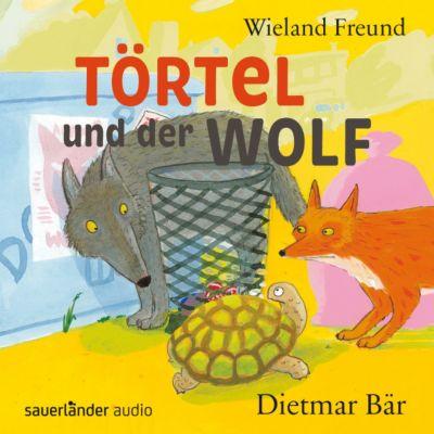 Törtel und der Wolf, 2 Audio-CDs, Wieland Freund
