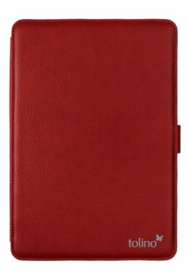 tolino epos, Schutztasche in Lederoptik mit easy click  (Farbe: rot)
