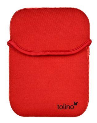 tolino eReader, Neoprentasche mit Wendefunktion (Farbe:rot)