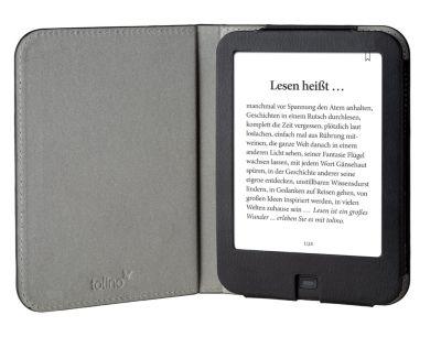 tolino shine 2 HD, Schutztasche in Lederoptik (Farbe:schwarz)