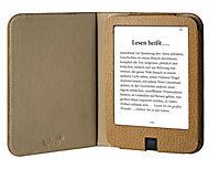 tolino shine 2 HD, Schutztasche in Lederoptik (Farbe:braun) - Produktdetailbild 1