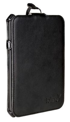 tolino shine 2 HD, Schutztasche mit Standfunktion (Farbe:schwarz)