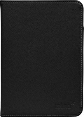 tolino vision, Schutztasche in Echtleder (Farbe: schwarz)
