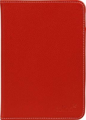 tolino vision, Schutztasche in Echtleder (Farbe: rot)