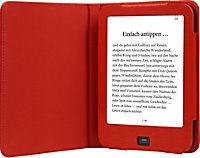 tolino vision, Schutztasche in Echtleder (Farbe: rot) - Produktdetailbild 1
