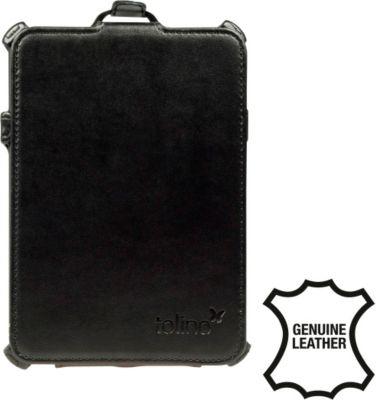tolino vision, Schutztasche in Echtleder mit Standfunktion (schwarz)