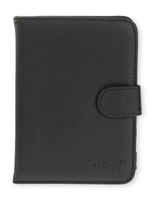 tolino vision, Schutztasche in Lederoptik (Farbe: schwarz)