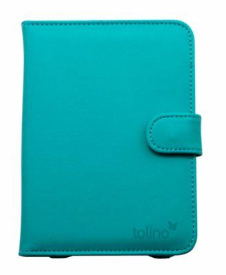 tolino vision, Schutztasche in Lederoptik (Farbe: azur blau)