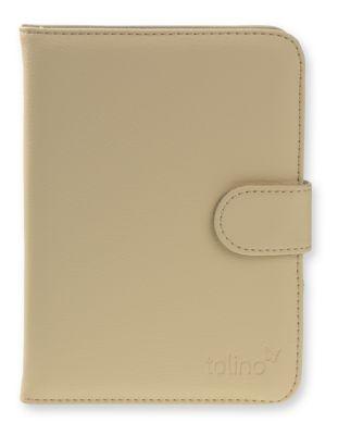 tolino vision, Schutztasche in Lederoptik (Farbe: creme)