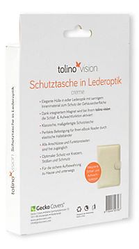 tolino vision, Schutztasche in Lederoptik (Farbe: creme) - Produktdetailbild 2