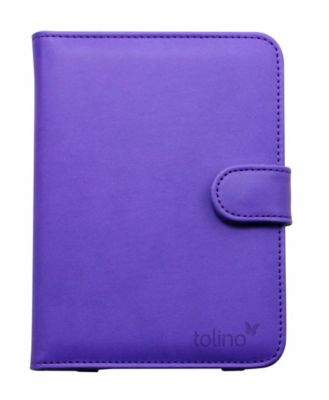 tolino vision, Schutztasche in Lederoptik (Farbe: lila)