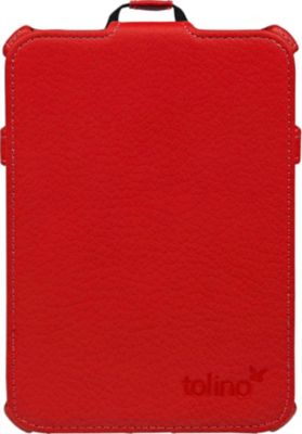tolino vision, Schutztasche mit Standfunktion (Farbe: rot)