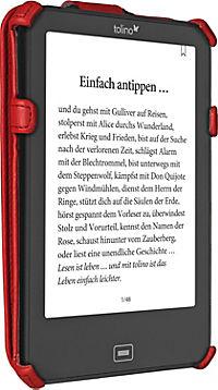 tolino vision, Schutztasche mit Standfunktion (Farbe: rot) - Produktdetailbild 1